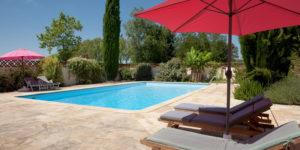 piscine traitée au chlore et chauffée